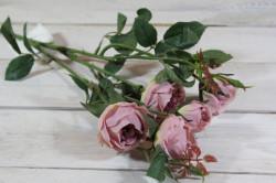 Umelá kytica RUŽÍ - staroružové (v. 69 cm)