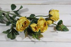 Umelá kytica RUŽÍ - žlté (v. 69 cm)