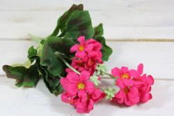 Umelá kytička PELARGÓNIA - ružová (v. 26 cm)