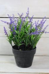 Umelá levanduľa v črepníku - fialová (v. 24 cm)