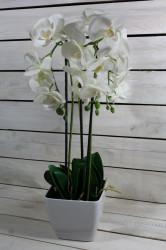 Umelá ORCHIDEA v črepníku - biela (v. 55 cm) #1