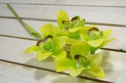 Umelá orchidea - zelená (V:52cm) 098