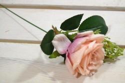 Umelá RUŽA - broskyňová (v. 35 cm)