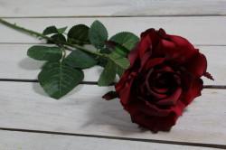 Umelé RUŽE - bordové (v. 75 cm)