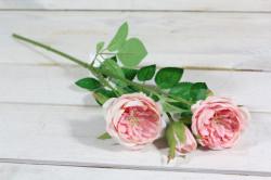 Umelé RUŽIČKY - ružové (v. 40 cm) #1