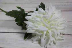 Umelý kvet CHRYZANTÉMA - biela (v. 74 cm)