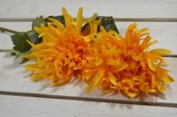 Umelý kvet chryzanténa - oranžová (V:60cm) 083