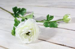 Umelý kvet ISKERNÍK (v. 78 cm) - biely
