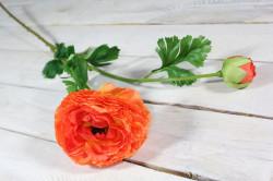 Umelý kvet ISKERNÍK (v. 78 cm) - oranžovo-červený