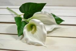 Umelý kvet KÁLA biela (v. 45 cm) veľkosť UNI