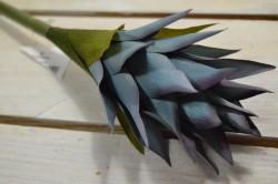 Umelý kvet kurkuma - modrá (V:43cm) 055