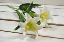 Umelý kvet LALIA biela (v. 45 cm) veľkosť UNI