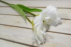 Umelý kvet - rochidea - biela (V:92cm) 087
