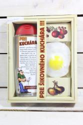 URBAN-darč.balenie pre KUCHÁRA sprchový gel 300 ml+ručne vyrábané mydlo