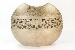Váza oválna - zlatá (výška 22 cm)
