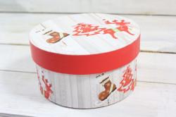 Vianočná darčeková krabica - červený sobík (p. 14 cm, v. 7 cm)