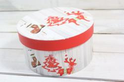 Vianočná darčeková krabica - červený sobík (p. 17 cm, v. 9 cm)