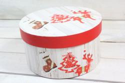 Vianočná darčeková krabica - červený sobík (p. 21 cm, v. 11 cm)