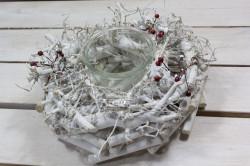 Vianočná dekorácia so sklom 1. (v. 10 cm, p. 22 cm)