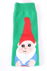 Vianočné bavlnené ponožky (SFP5371) - ŠKRIATOK - zelené