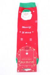Vianočné bavlnené ponožky (SNP5687) - MERRY X-MAS - červené