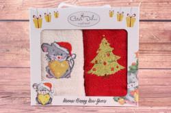 Vianočné detské utierky v darčekovom balení VZOR 1. (2 ks 30x50 cm)