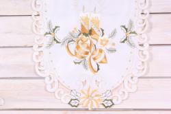 Vianočný obrus (40x90 cm) - 0000 - zlato-biely 1.