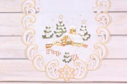 Vianočný obrus (40x90 cm) - 0000 - zlato-biely 3.