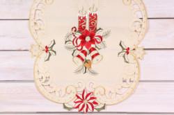 Vianočný obrus (40x90 cm) - 3661 - červeno-béžový 1.