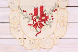 Vianočný obrus (40x90 cm) - 3661 - červeno-béžový 2.