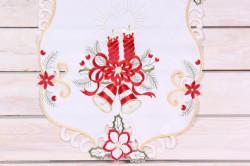 Vianočný obrus (40x90 cm) - 3669 - červeno-biely 2.