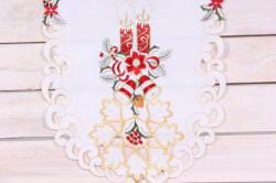 Vianočný obrus (40x90 cm) - 3669 - červeno-biely 3.