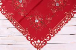 Vianočný obrus (85x85 cm) - 6653 - zlato-červený