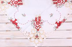 Vianočný obrus (85x85 cm) - 9658 - červeno-biely