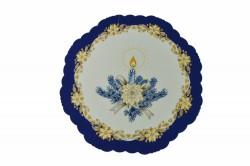 Vianočný obrus - modrý - priemer 35 cm