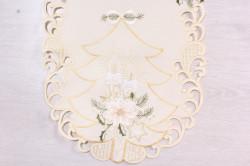 Vianočný obrus VZOR 10. (40x90 cm) - béžový