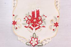 Vianočný obrus VZOR 12. (40x90 cm) - béžový