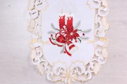 Vianočný obrus VZOR 14. (40x90 cm) - biely