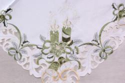 Vianočný obrus VZOR 17. (85x85x cm) - biely