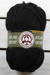 Vlna ATLAS SPORT (100 gr - 65 m) - čierna