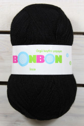 Vlna BONBON (100 gr - 300 m) - čierna INCE