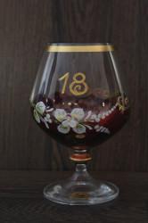 Výročný pohár na 18. narodeniny BRANDY - bordový