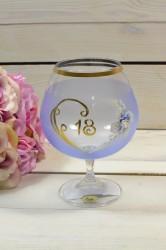 Výročný pohár na 18. narodeniny - BRANDY - modrý