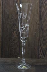 Výročný pohár na 18. narodeniny so swarovski kryštáľmi ŠAMPANSKÉ 3.