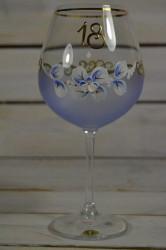 Výročný pohár na 18. narodeniny - VÍNO - modrý