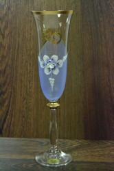 Výročný pohár na 20. narodeniny  ŠAMPANSKÉ - modrý