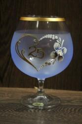 Výročný pohár na 25. narodeniny BRANDY - modrý