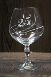 Výročný pohár na 25. narodeniny BRANDY so swarovski kryštálmi