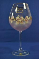 Výročný pohár na 25.narodeniny na VÍNO - ružový