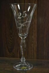 Výročný pohár na 25. narodeniny ŠAMPANSKÉ so swarovski kryštálmi